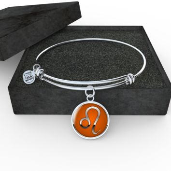 Zodiac Sign Leo v2 - Bangle Bracelet