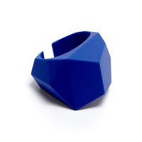 Bauhaus Blue Rubber Rock Cuff by Marc by Marc Jacobs