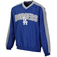 L.A. Dodgers Double Switch Pullover V-Neck Jacket - Royal Blue