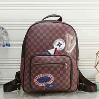 Tagre™ LV Louis Vuitton Women Fashion Daypack School Bag Leather Backpack