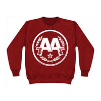 Asking Alexandria Men's  Logo Sweatshirt Red Rockabilia