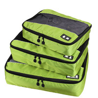 SUSINO Nylon Packing Cube travel bag System - Durable 3 Piece men's travel bags Weekender Set sport bag