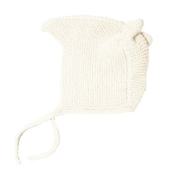 Solid Knit Alpaca Baby Hat