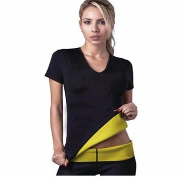 IGGY Hot Body Shapers T-shirt Hot Shapers Stretch Neoprene Slimming Vest Body Shaper Control Vest Tops S-3XL