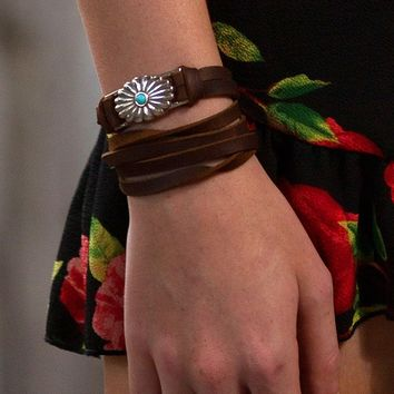 starburst leather wrap