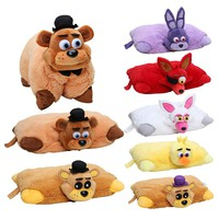 43cm*30cm Five Nights At Freddys plush Pillow fnaf Golden Freddy Fazbear Mangle chica bonnie foxy plush stuffed pillow doll toy