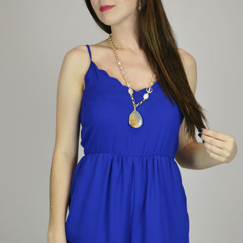 Royal Kingdom Blue Romper