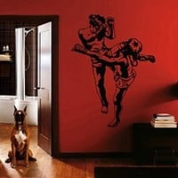 ik1440 Wall Decal Sticker judo karate martial arts sport strength sports hall