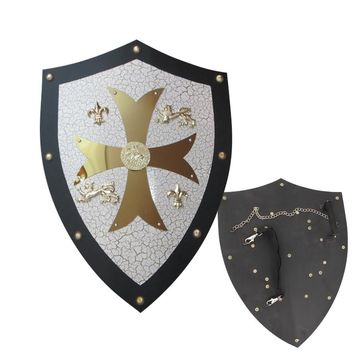 Medieval Knight Crusader Shield Steel Armor For Kingdom of Heaven