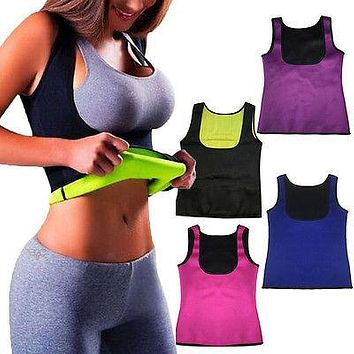 BODY SHAPER FAT BURNER WEIGHT LOSS HOT THERMO NEOPRENE SWEAT SAUNA VEST SLIMMING TANK TOP