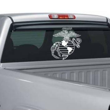 Large Vinyl USMC Eagle, Globe, and Anchor Window Decal
