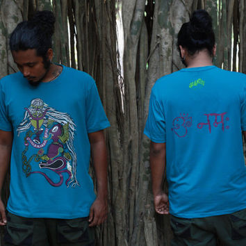 Ganesha T shirt - Shiva  T shirt- Indian Art- Elephant T-shirt -Graphic t shirt- Psychedelic Tshirt- Spiritual clothing- Yoga T shirt