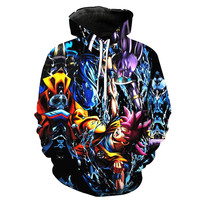 Super Saiyan God Goku VS Lord Beerus Battle of Gods Dragon Ball Z Hoodie