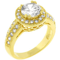 Pave Halo Vintage Crown Ring, size : 05