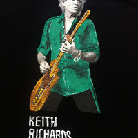 Keith Richards tshirt Tシャツ rock  painting 3d