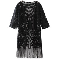 Lace Fringed Cover-up