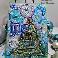 Joy Mixed Media Canvas Board. Ready to Ship