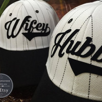 Wifey Hubby Hats Honeymoon Hat Wedding Hat Cuuple Hats Baseball Hats Trucker Hat