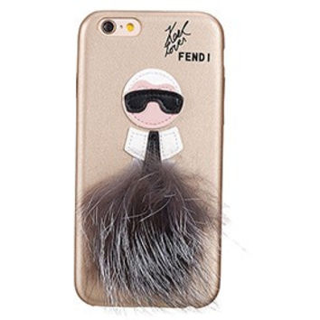 Fendi Karlito Gold Case for iPhone 6/6S 18926690