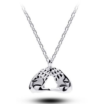 965bc341b Womens Delta Sigma Theta DST Necklace Hand sign Pendant palm necklace