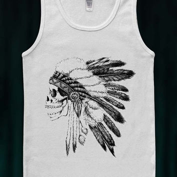 Trending Item Indian Skull Tank Top Ladies Tank Top T-Shirt American Apparell Shirtless
