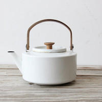 White Copco Enamel Tea Kettle