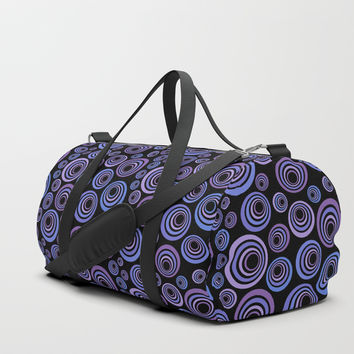 Retro ultraviolet Duffle Bag by ivaw