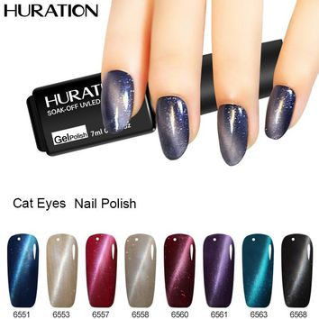 Huration 3D 7ml Cat Eyes Semi-permanent 24 Colors UV Long-Lasting Gel Polish Magnetic Lacquer Cat Eyes Lak Nail Gel Polish
