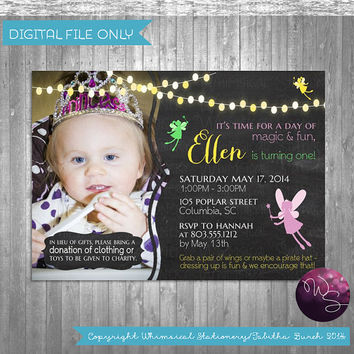 "Fairy Princess Party ""Fairy Magic Photo"" Invitation (Printable File Only); Enchanted Forest Birthday; Fairy Fun Birthday"