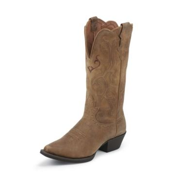 Justin Women's 12 in. Stampede Collection Boot, Tan