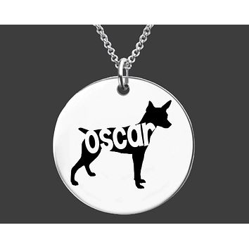 Rat Terrier Dog Necklace |  Personalized Dog Jewelry