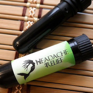 HEADACHE Aromatherapy - 1 inhaler diffuser - natural botanicals - aroma therapy by BonnyBubbles