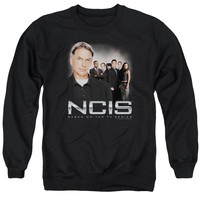 NCIS/INVESTIGATORS - ADULT CREWNECK SWEATSHIRT - BLACK -