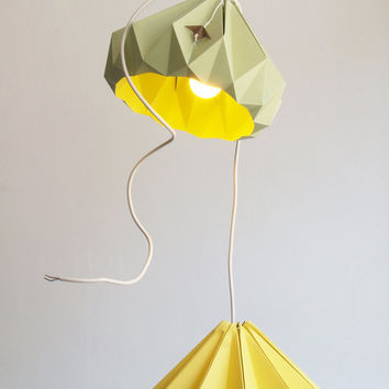 Chestnut paper origami lampshade size S by nellianna on Etsy