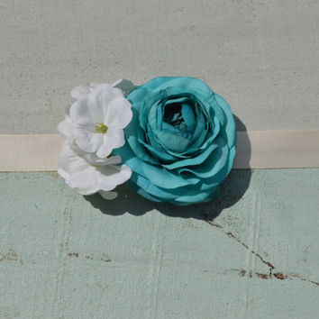 Gender Reveal Turquoise/ Blue Maternity Sash/ Wedding/ Flower Girl/ Pageant