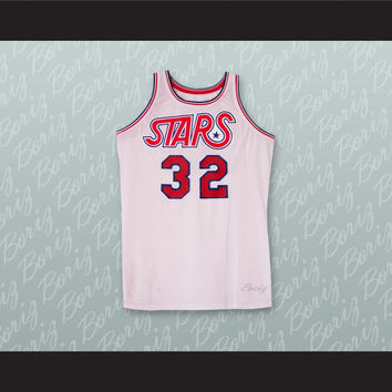 Utah Randy Denton 32 White Basketball Jersey Stitch Sewn