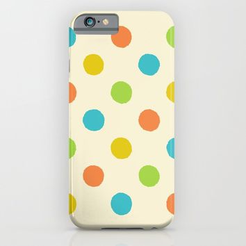 Colorful polka dot pattern iPhone & iPod Case by Natalia Bykova