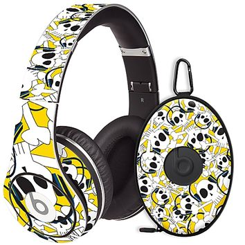 Skull Prince with Beats on Yellow Skin for the Beats Studio Headphones & Case by skinzy.com