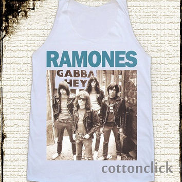 S, M, L - RAMONES Shirts American Rock Band TShirts Punk Rock Shirts Women Shirts Vest Singlet Tank Top Women Tunics Unisex Sleeveless