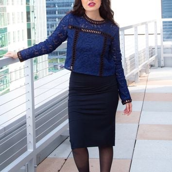 PENNY PENCIL SKIRT - BLACK