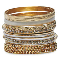 Party Bling Bangle Set | Wet Seal