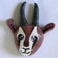 Cute Gazelle Head Polymer Clay Magnet