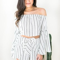 Runaway Stripe Matching Set - TOP