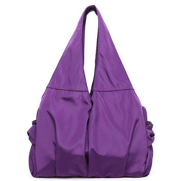 Large Capacity Nylon Shoulder Bag Women Fashion Waterproof Tote Handbag