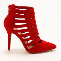 Red Strappy Heels - LoveCulture