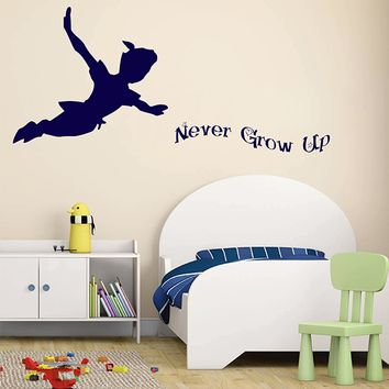 Ik2806 Wall Decal Sticker Peter Pan Fairy Tale Of Big Ben Room C