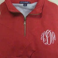Monogrammed Pullover Sweatshirt - Christmas Shirt Gift. Personalized initials teacher uncle aunt mom sister or cousin