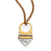 A Peace Treaty - Xiriana White Agate Arrow Pendant Necklace - Saks Fifth Avenue Mobile