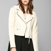 Just Female Dagmar Convertible Leather Moto Jacket - Urban Outfitters