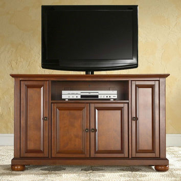 Classic Cherry Wood Finish 48-inch TV Stand Entertainment Center
